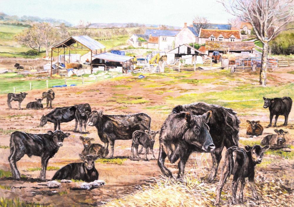 Lytes Cary Farm, Somerset - a watercolour painting by Faye Edmondson