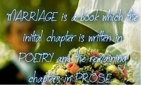 Marriage poetry prose chapter written