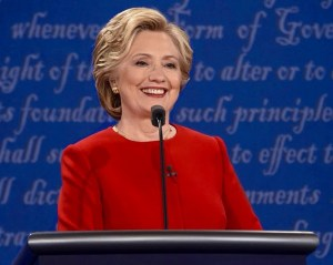 Hillary at First Presidential Debate
