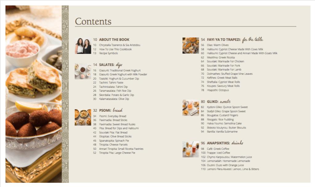 Mezze Contents Page