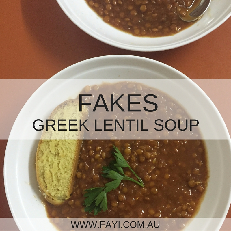 Fakes Greek Lentil Soup For Your Thermomix