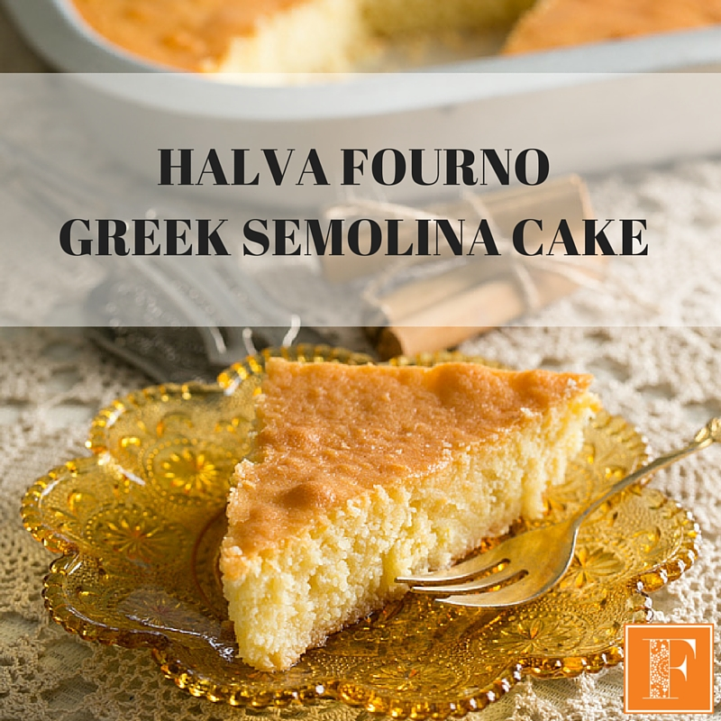 Halva Fourno Greek Semolina Cake Recipe For Your Thermomix