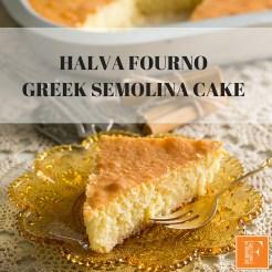 HALVA FOURNO GREEK SEMOLINA CAKE