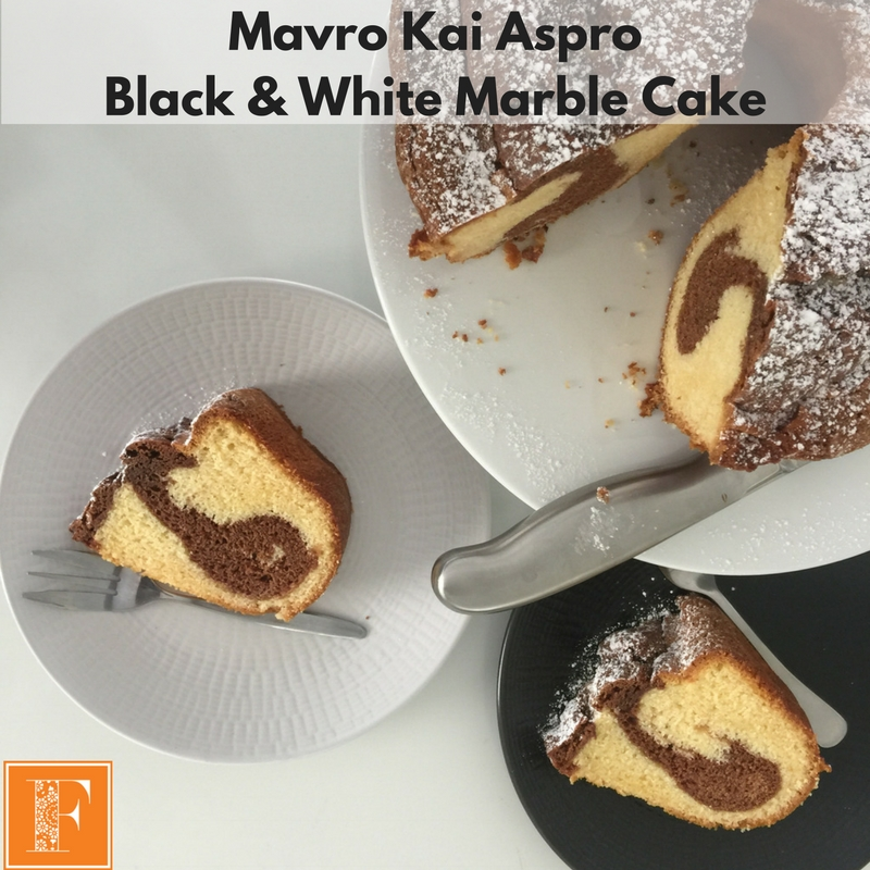 Mavro Kai Aspro – Black and White Marble Cake