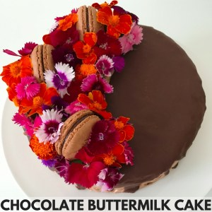 Chocolate Buttermilk Flower Cake Recipe For Your Thermomix