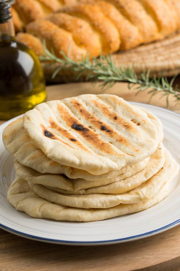 Souvlaki Pita Thermomix Flat Bread | Mezze Cookbook by Fayi | Greek Thermomix Recipes