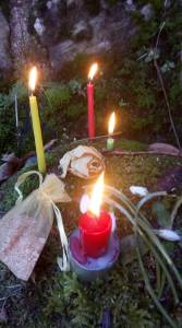 Imbolc ceremony candles