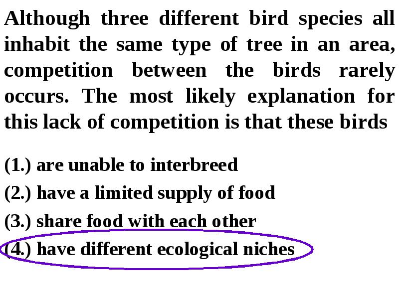 Ecology Review a is all the members of the same species