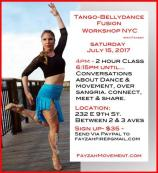 Tango-Bellydance Fusion Workshops with Fayzah