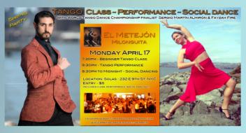 Tango Performance & Class with Sergio Martin Almiron & Fayzah. NYC