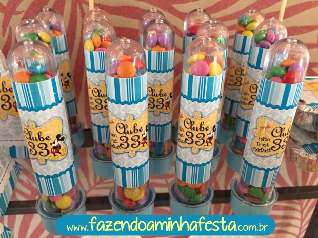 Tubetes com Mini Confete