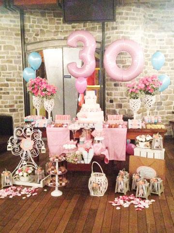 Tema 30 anos Floral Vintage  Festa da Leitora Manu