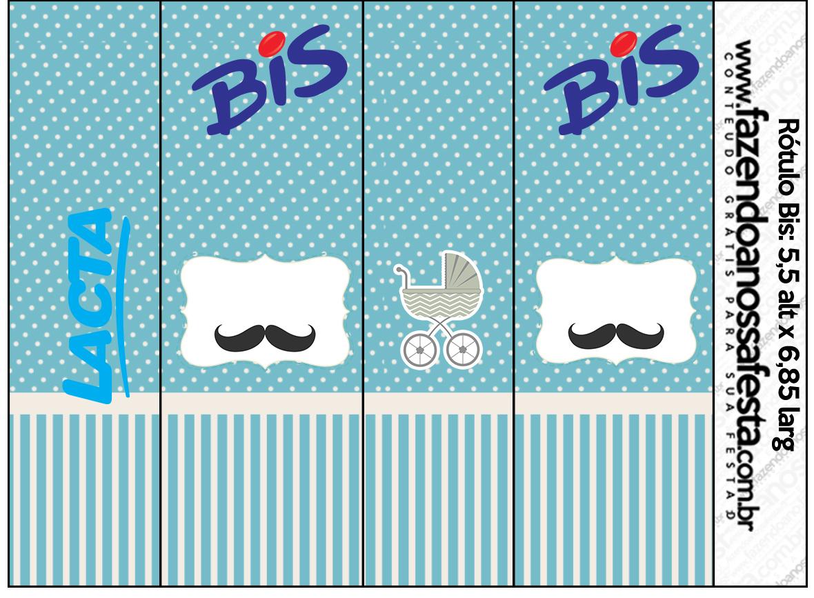 Bis Ch de Beb Mustache  Fazendo a Nossa Festa