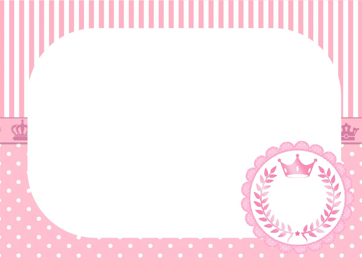 Convite para festa Realeza Rosa 2  Fazendo a Nossa Festa