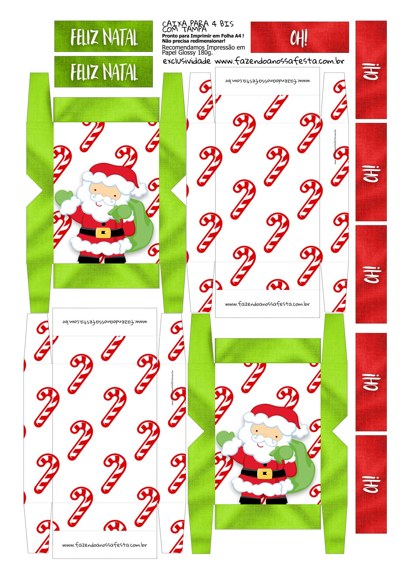 Caixa 4 Bis Especial Natal 8 Fazendo A Nossa Festa