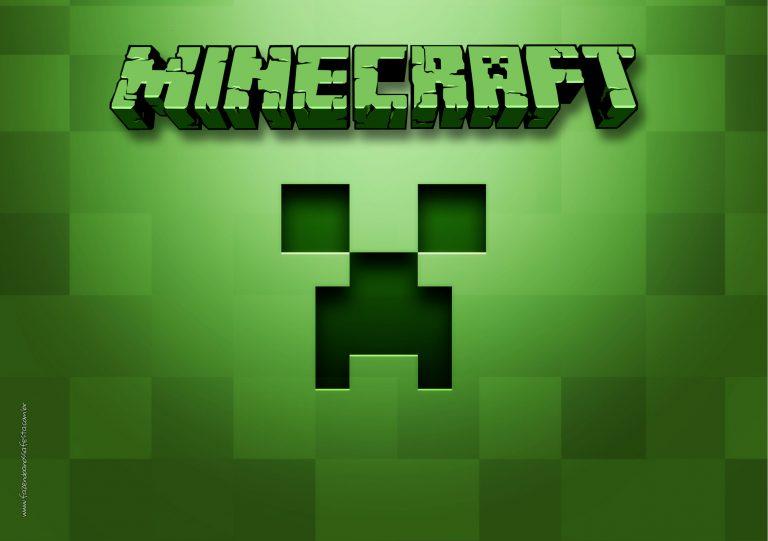 Convite Tema Minecraft 3  Fazendo a Nossa Festa