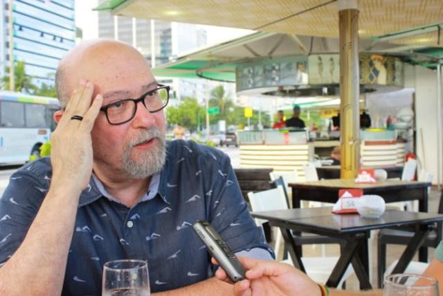 Luiz Eduardo Soares, cientista político e coautor do livro Tropa de Elite. Foto: Leandro Neves.
