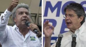 Os dois candidatos Lenín Moreno e Guillermo Lasso. Foto: Reprodução Internet.