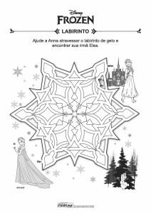 02-01-Labirinto-Frozen-Anna-e-Elsa Livrinho de atividades para festa infantil - Frozen