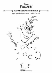 05-Jogo-de-Ligar-Pontos-Frozen-Olaf Livrinho de atividades para festa infantil - Frozen