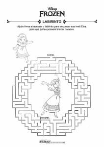 10-Labirinto-Frozen-Ana-e-Elsa Livrinho de atividades para festa infantil - Frozen