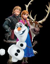 Kristoff-Anna-Olaf-Sven-sem-fundo-01 Personagens Frozen