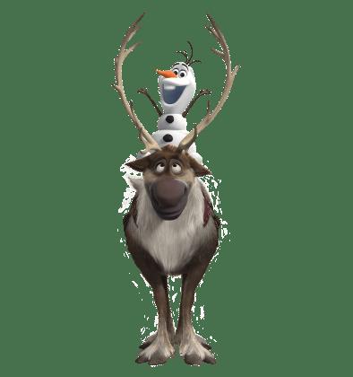 Olaf-Sven-Frosen-sem-fundo-01 Personagens Frozen