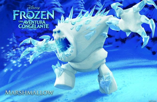 Wallpapers-frozen-Marshmallow Papel de Parede Frozen