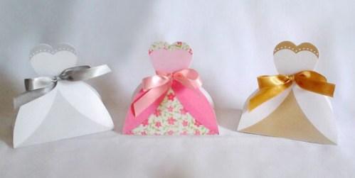 Lembrancinha-Vestido-caixa-para-festa-noiva-07 Moldes de Caixinhas Vestido - Princesas, Fadas, Noivas e Debutantes