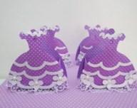 Lembrancinha-Vestido-caixa-para-festa-princesa-10 Moldes de Caixinhas Vestido - Princesas, Fadas, Noivas e Debutantes