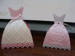 Lembrancinha-Vestido-simples-caixa-para-festa-12 Moldes de Caixinhas Vestido - Princesas, Fadas, Noivas e Debutantes