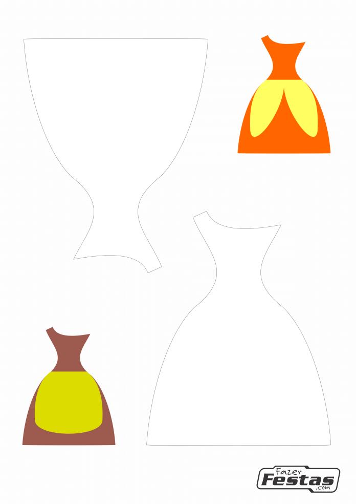 Lembrancinha-caixinha-Vestido-de-alca-molde-01-1 Moldes de Caixinhas Vestido - Princesas, Fadas, Noivas e Debutantes