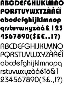 abc-Bauhaus Font dos Minions