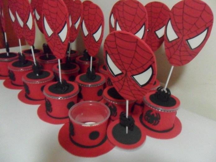 Lembrancinhas-Para-Festa-Infantil-Com-Tema-de-Homem-Aranha Homem Aranha Festa infantil