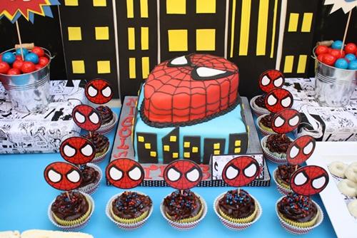 bolo-6 Homem Aranha Festa infantil