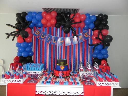 mesa-3 Homem Aranha Festa infantil