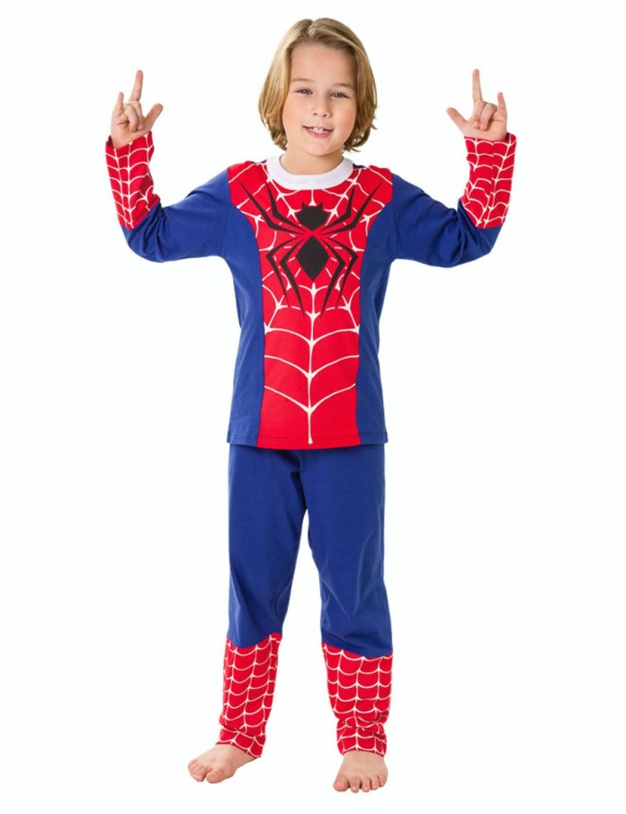 pijama-fantasia-infantil-comprido-homem-aranha-spiderman-veggi Homem Aranha Festa infantil