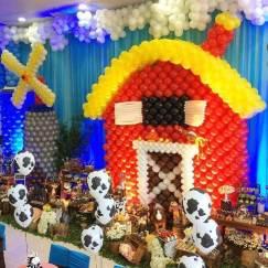 Balões-tema-festa-fazendinha-03 Idéias para festa Infantil com tema Fazendinha para meninos e meninas