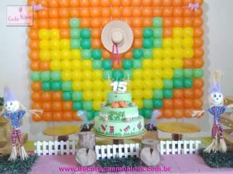 Balões-tema-festa-fazendinha-05 Idéias para festa Infantil com tema Fazendinha para meninos e meninas