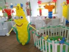 Balões-tema-festa-fazendinha-07 Idéias para festa Infantil com tema Fazendinha para meninos e meninas
