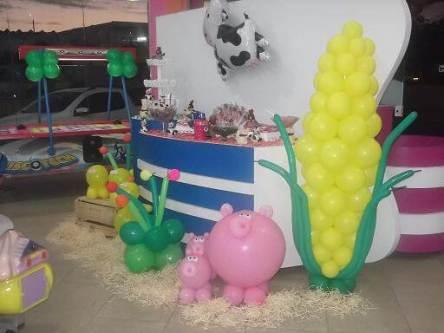 Balões-tema-festa-fazendinha-11 Idéias para festa Infantil com tema Fazendinha para meninos e meninas