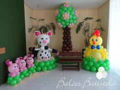 Balões-tema-festa-fazendinha-12 Idéias para festa Infantil com tema Fazendinha para meninos e meninas