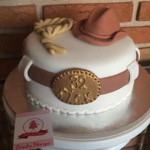 Bolo-festa-infantil-country-03 Idéias para festa Infantil com tema Fazendinha para meninos e meninas