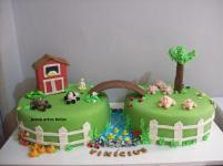 Bolo-festa-infantil-fazendinha-04 Idéias para festa Infantil com tema Fazendinha para meninos e meninas