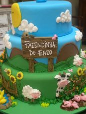 Bolo-festa-infantil-fazendinha-23 Idéias para festa Infantil com tema Fazendinha para meninos e meninas
