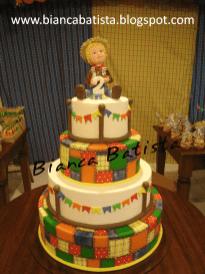 Bolo-festa-infantil-são-joão-01 Idéias para festa Infantil com tema Fazendinha para meninos e meninas