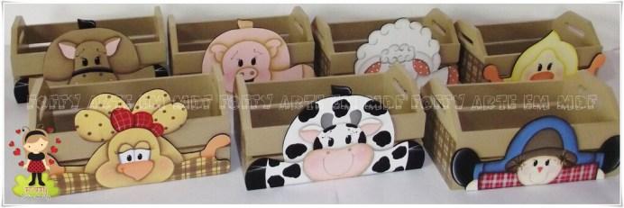 Lembrancinha-aniversário-fazendinha-caixas-mdf Idéias para festa Infantil com tema Fazendinha para meninos e meninas