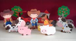 Lembrancinha-aniversário-fazendinha-pecas-em-mdf Idéias para festa Infantil com tema Fazendinha para meninos e meninas