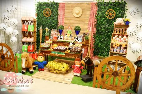 aniverssário-infantil-decoração-tema-festa-fazendinha-06 Idéias para festa Infantil com tema Fazendinha para meninos e meninas