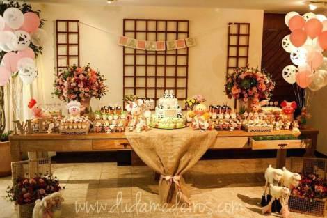 aniverssário-infantil-decoração-tema-festa-fazendinha-16 Idéias para festa Infantil com tema Fazendinha para meninos e meninas